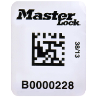 Master Lock RFID and barcode labels for safety padlocks and lockout point isolation tags