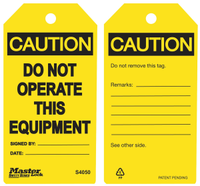 #S4050 Safety Tag