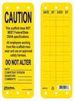 #S4701 Scaffold Safety Tag