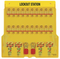 #1484BP3 Lockout Station with #3RED Laminated Steel Padlocks. Other Padlocks Available