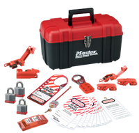 #1457EKA Personal Electrical Lockout Kit. Shown with #3RED Steel Padlocks. Different padlocks available