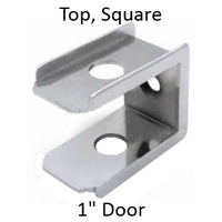 Bathroom stall top hinge door insert