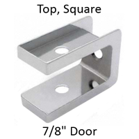 "Polished bathroom stall top hinge door insert for 7/8"" door. #90H407"