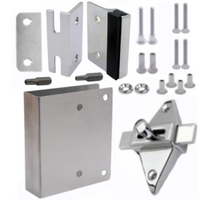 Latch repair kit for inswing square-edged door
