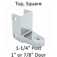 Chrome plated top bathroom stall hinge bracket #90H151