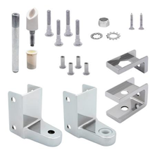 chrome plated top and bottom bathroom stall hinge replacement pack 63130 - Bathroom Stall Parts