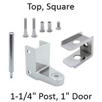 "Top Hinge Replacement Pack for 1.25"" Square Edged Pilaster and 1"" Door. Chrome plated Zamac. American Sanitary Laminate. #63060"