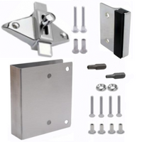 Latch repair kit for square-edged outswing door