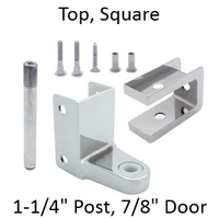 "Chrome plated top bathroom stall hinge replacement pack for 7/8"" door #63020"