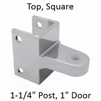 Chrome plated top bathroom stall bracket #90H175