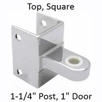 Top bathroom stall hinge bracket #90H185
