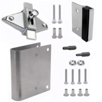 Latch repair kit for round-edged outswing door