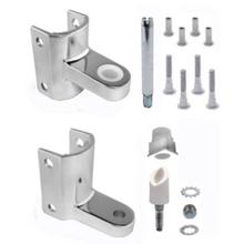 Bathroom Stall Gravity Hinge bathroom stall repair parts. hinge brackets, hinge door inserts