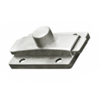 Surface mounted slide latch for bathroom stall doors