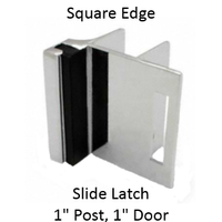 "Inswing strike & keeper for 1"" SQUARE edged bathroom stall door & pilaster"