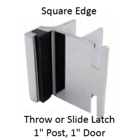 "Inswing strike & keeper for1"" SQUARE edged bathroom stall pilaster & door"