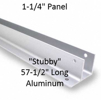 "One Ear Continuous Wall Bracket for Bathroom Stall Repair. Stubby. 1-1/4"" Panel. Aluminum, 57-1/2"" Long"