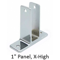 "Two ear wall bracket for 1"" bathroom stall panel. Extra high"