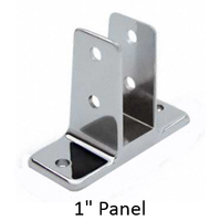 "Two ear urinal screen bracket for 1"" bathroom stall panel"