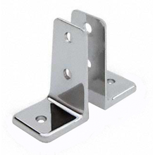 pair of angle wall brackets for any thickness bathroom stall panel