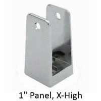 chrome plated u bracket for 1 bathroom stall panel