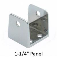 chrome plated u bracket for 1 14 bathroom stall panel