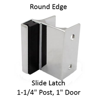 Outswing strike & keeper for ROUND edged bathroom stall
