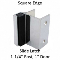 Outswing strike & keeper for SQUARE edged bathroom stalls