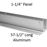 "One Ear Continuous Wall Bracket for Bathroom Stall Repair. 1-1/4"" Panel. Aluminum, 57-1/2"" Long"