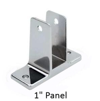 "Two ear wall bracket for 1"" Bathroom Stall Panel"