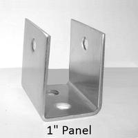 stainless steel u bracket for 1 bathroom stall panel