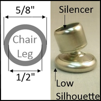"Swivel chair glide for round legs with O.D. 5/8"", I.D. 1/2"""