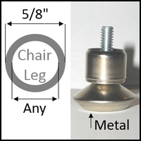 "Adjustable height swivel glide for round legs with 5/8"" O.D. and ANY I.D."