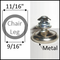 "Swivel chair glide for round leg with 11/16"" O.D. and 9/16"" I.D."