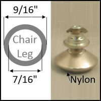 "Swivel chair glide for round leg with 9/16"" O.D. and 7/16"" I.D."