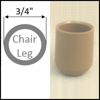 "Plastic cap chair glide for folding chairs. Round legs with 3/4"" O.D."
