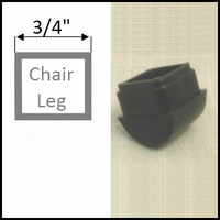 "Rocker chair glide for stackable chairs with square legs of 3/4"" O.D."