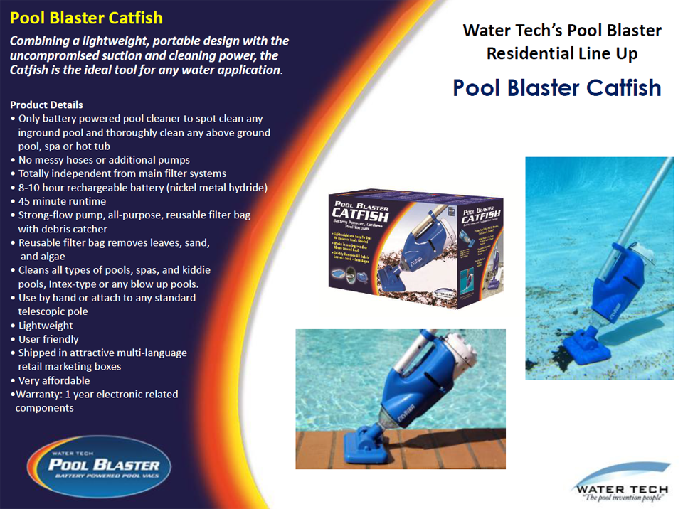 Pool Blaster Catfish by Water tech information
