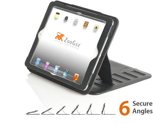 The Case Prodigy is a very stable iPad Air Case that uses a magnetic stand to securely lock your iPad in any viewing angle.