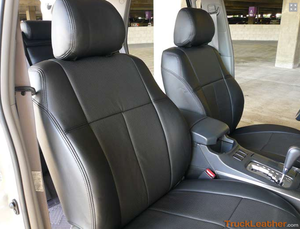 Clazzio Leather Insert Seat Covers - Toyota Highlander '08-'10 (2 Row Model)