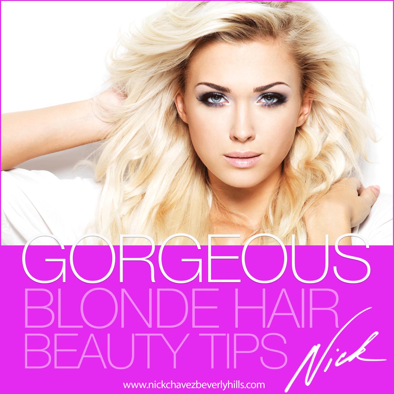 beauty hair advice blonde