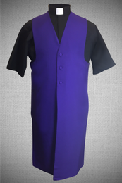 Men's Long Clergy Vest - Purple