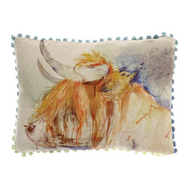 Voyage Maison Harry Highland Cow Arthouse Mini Cushion