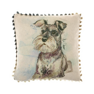 Voyage Maison Schnauzer Arthouse Mini Cushion (AH16013)