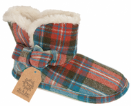Ladies Tartan Slipper Bootie (Pitlochry-Wine)