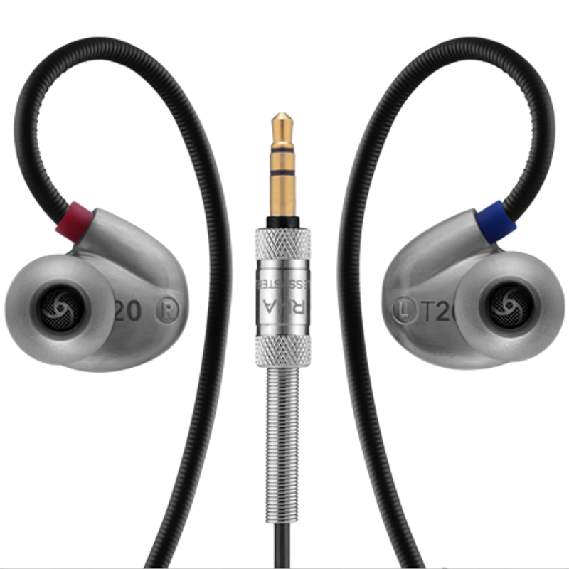 RHA T20 Silver finish, black cable, at Headphone Bar