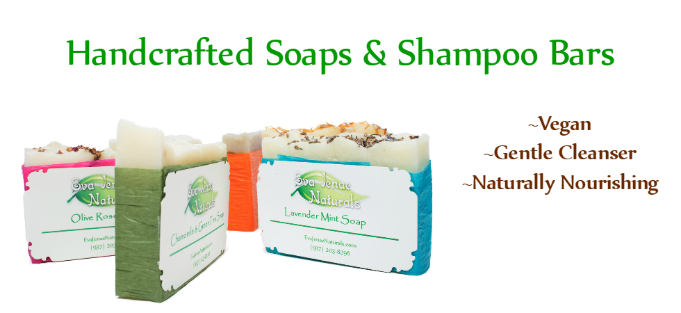 Natural and vegan handcrafted soaps and shampoo bars.