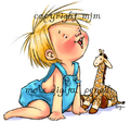 Baby with Giraffe