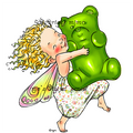 Fairy with Gummy Bear