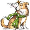 Christmas Sheepdog (no hat)